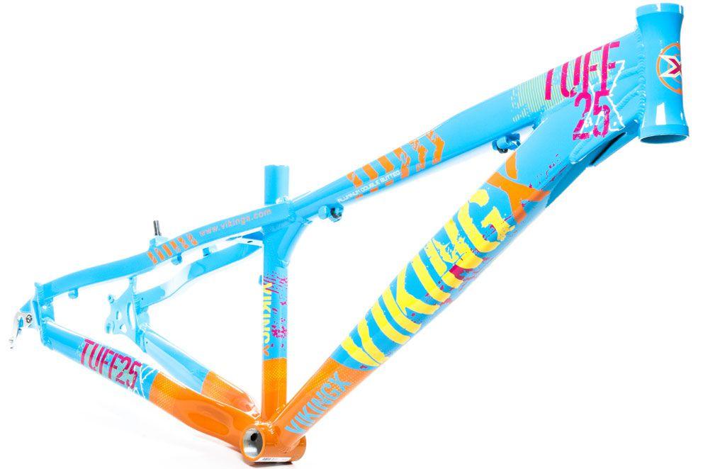 Quadro Vikingx Tuff 25 Aro 26 Freeride Aluminio Azul Claro