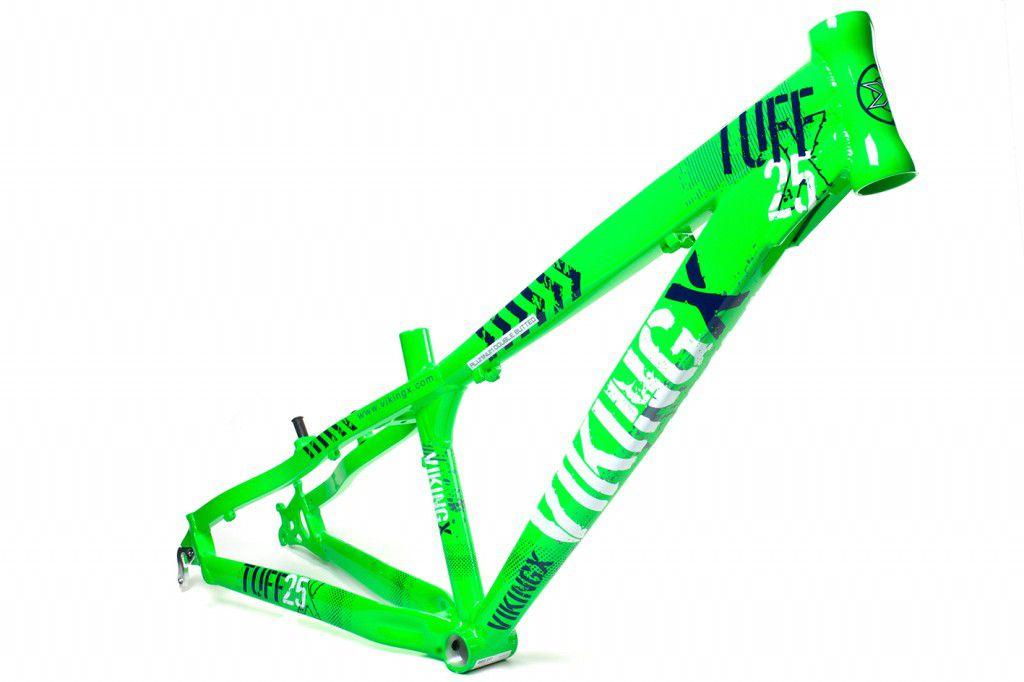 Quadro Vikingx Tuff 25 Aro 26 Freeride Aluminio Verde Bike