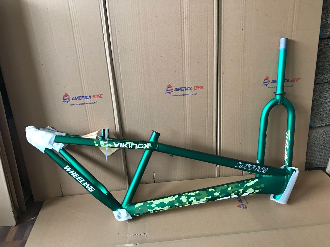 Quadro Vikingx Tuff 28 26 FreeStyle Aluminio Verde + Garfo 2019