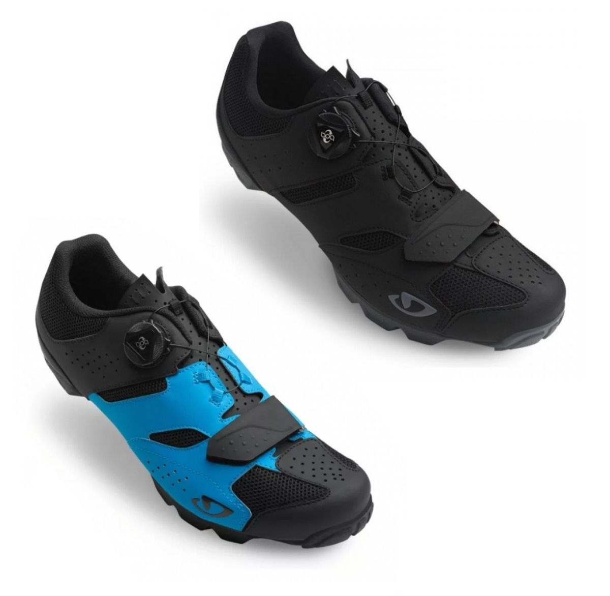 Sapatilha Ciclismo Bike Giro Cylinder Boa Mtb Preta Azul T40
