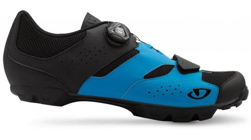 Sapatilha Ciclismo Bike Giro Cylinder Boa Mtb Preta Azul T42