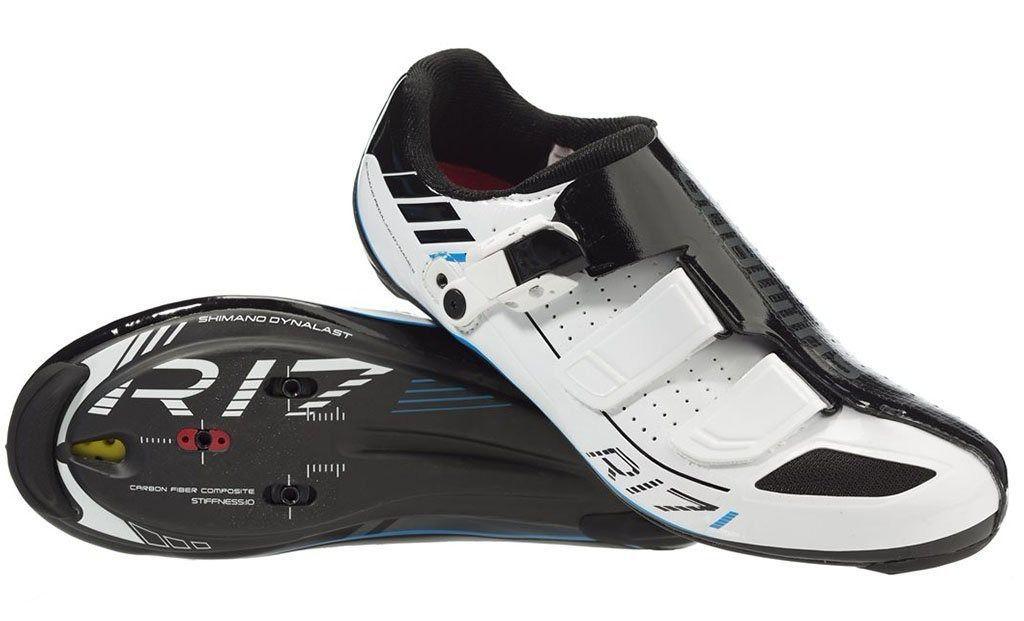 Sapatilha Speed Shimano Sh-r171 Carbon Preta Branca 42.5Br