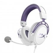 Headset Gamer HyperX Cloud Alpha Purple Edição Limitada - Branco e Roxo HX-HSCA-PL