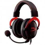 Headset Gamer HyperX Cloud II - Preto e Vermelho KHX-HSCP-RD