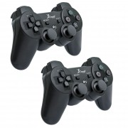 Kit 2 Controles DualShock PS3 Sem Fio