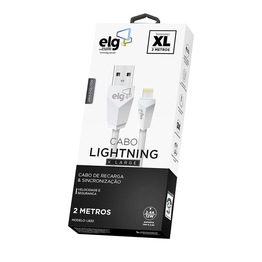 Cabo Lightining 2m ELG - L820 Branco