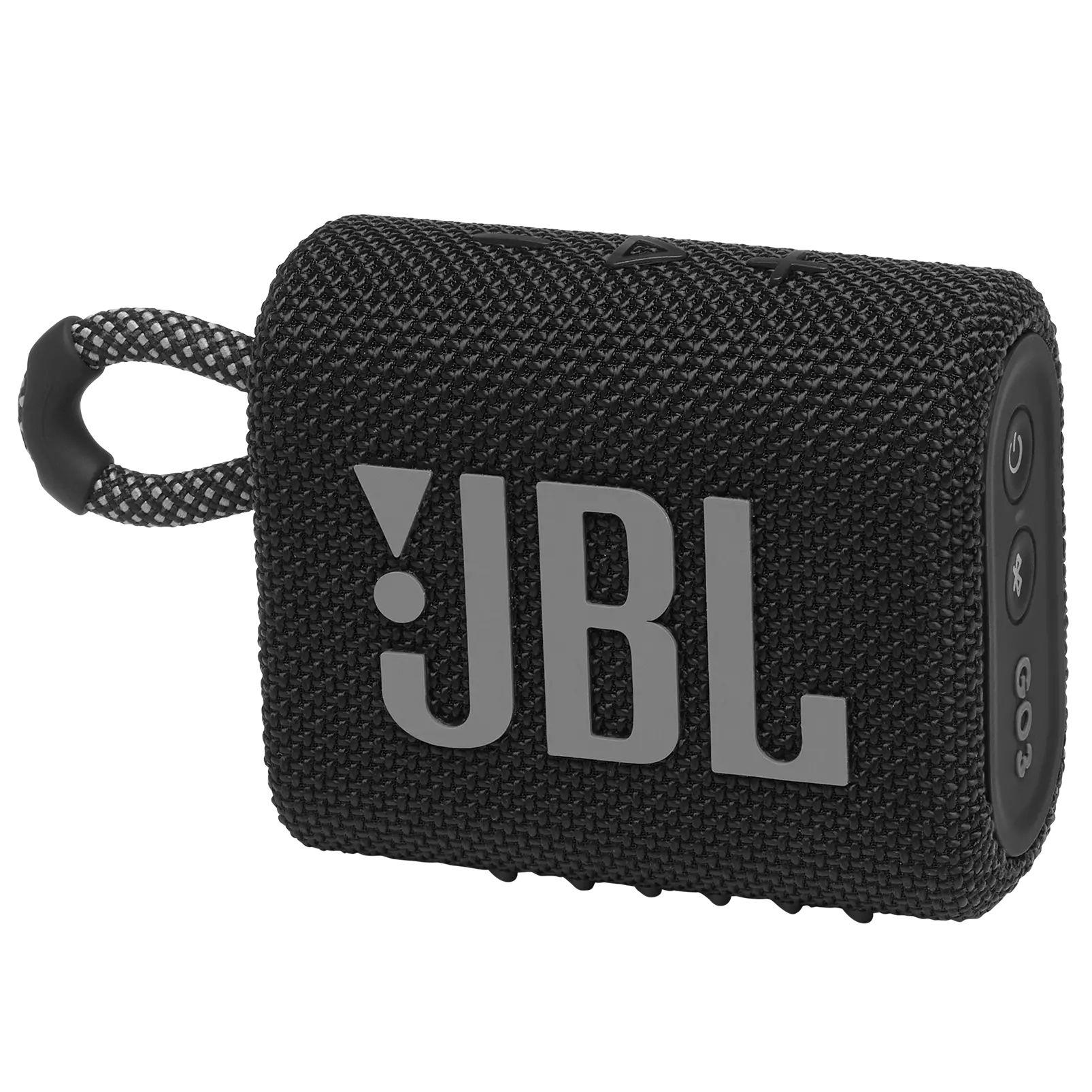 Caixa de Som Bluetooth Portatil JBL GO 3 - Preta JBLGO3BLK