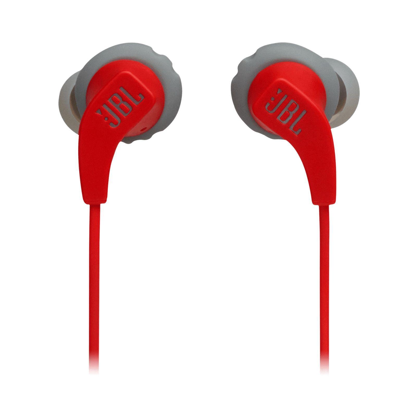 Fone de Ouvido Bluetooth JBL Endurance RUNBT - Vermelho e Cinza JBLENDURRUNBTRED