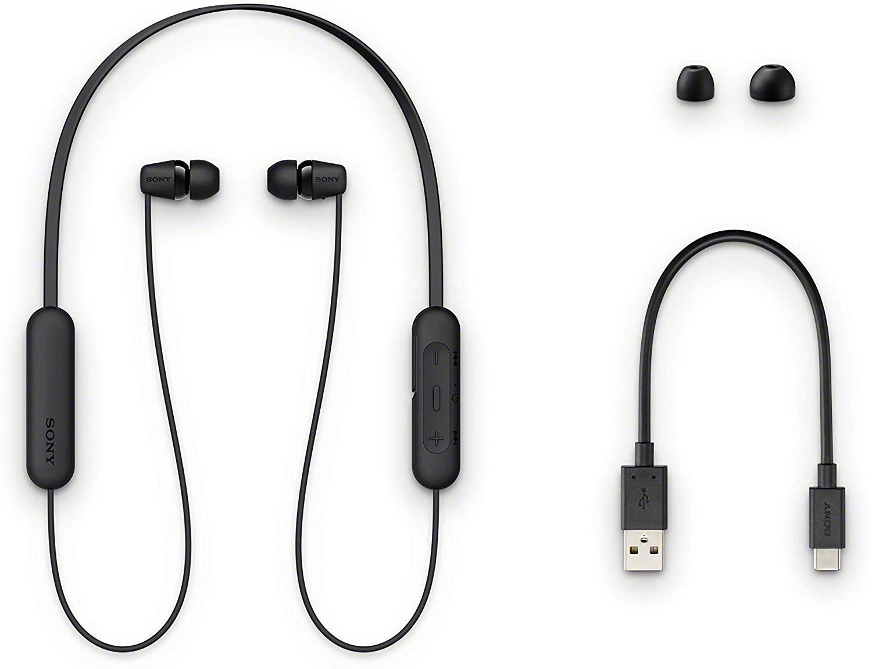 Fone de Ouvido Bluetooth Sony WI-C200 - Preto