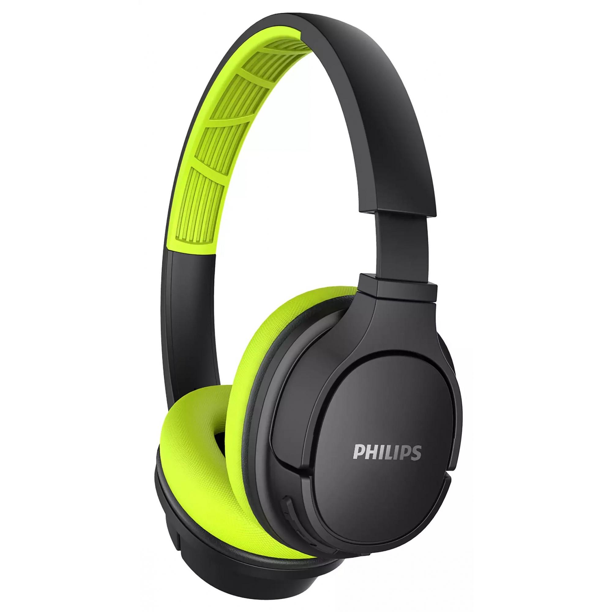 Fone de Ouvido Esportivo Bluetooth Philips TASH402LF/00 - Preto e Verde