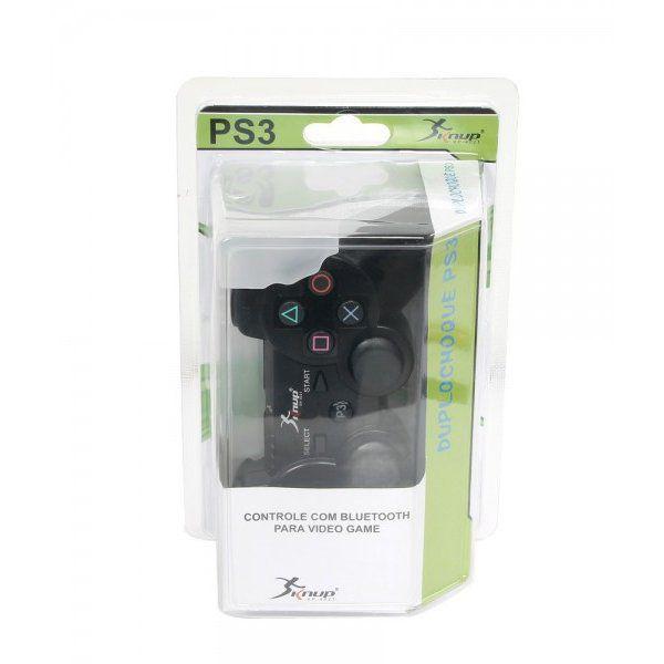 KIT 3 CONTROLES DUALSHOCK PS3 SEM FIO