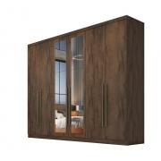 Guarda Roupa Casal com Espelho, 6 portas e 6 Gavetas Dello Novo Horizonte
