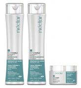 Kit Néctar Curls Shampoo + Mascara + Ativador Nutritivo  - Para Cachos