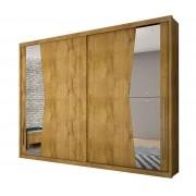 Guarda Roupa Casal com Espelho 2 Portas de Correr Geom Gold Novo Horizonte