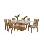 Sala de Jantar Agata com 6 Cadeiras Agata Animale   Móveis Rufato