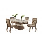 Sala de Jantar Agata com 4 Cadeiras Agata Animale  Móveis Rufato