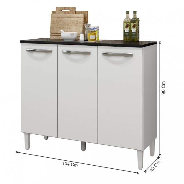 Balcão de Cozinha com Tampo 3 Portas Vega Arte Moveis