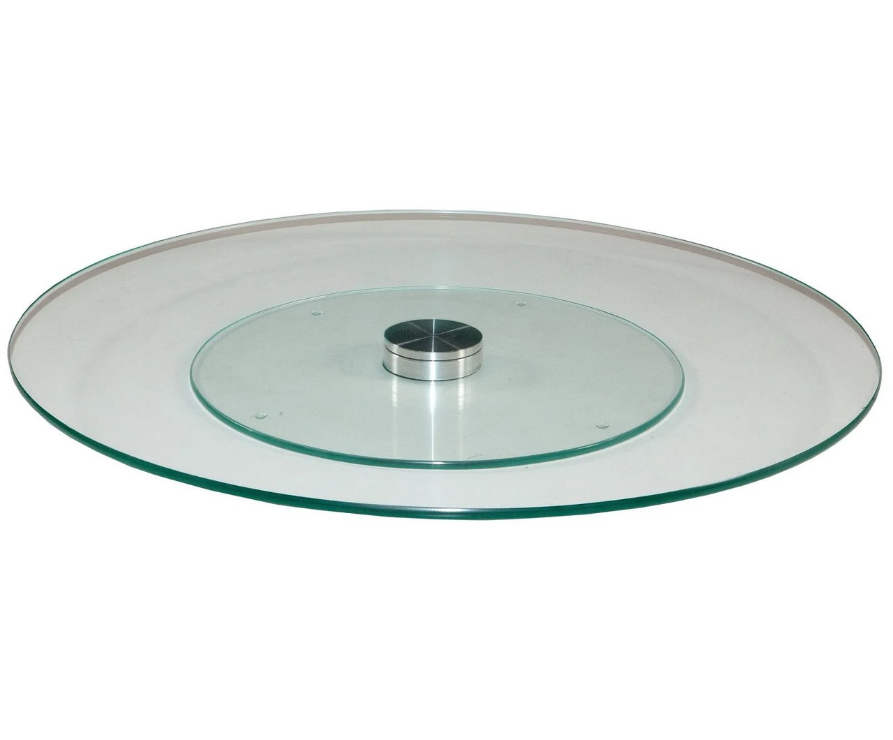 Centro de mesa Prato Giratório de 80 cm incolor