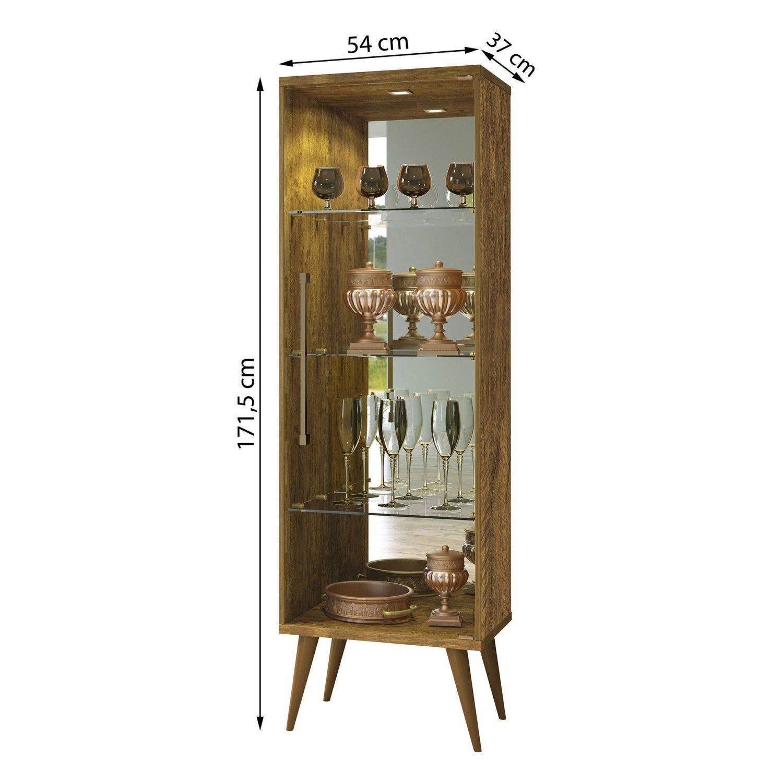 Cristaleira 1 Porta Safira Plus Mavaular