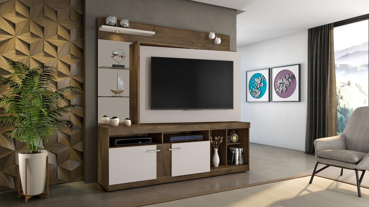 Estante Home para TV até 56 Polegadas Brasil Candian JCM Móveis