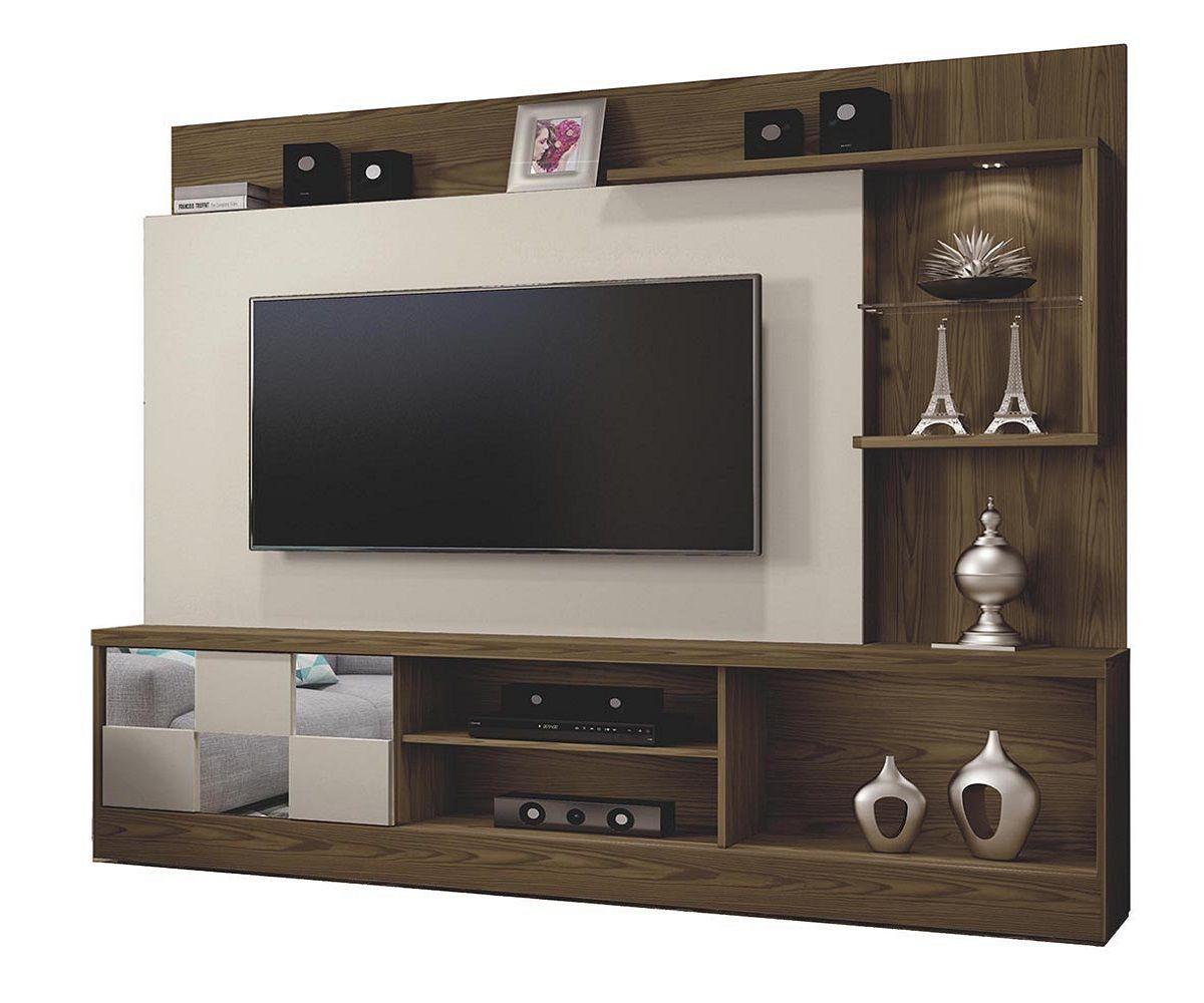 Estante Home para TV até 65 Polegadas 1 Porta e LED Dinamarca Mavaular