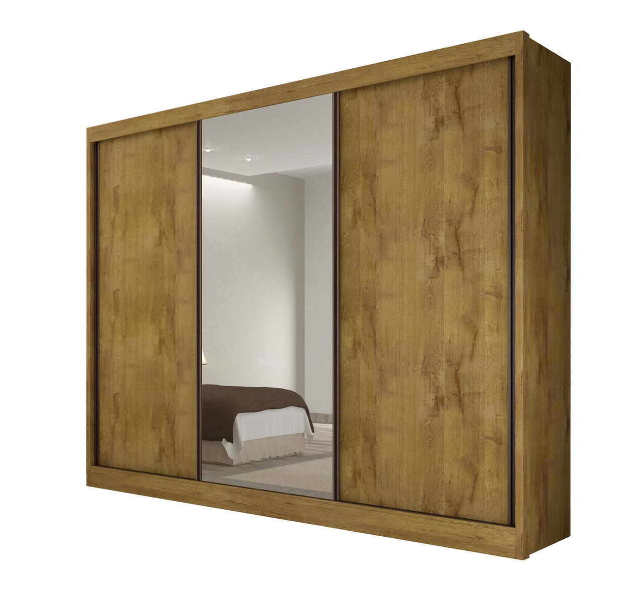 Guarda Roupa Casal com 1 Espelho, 3 Portas e 6 Gavetas Diamond Novo Horizonte