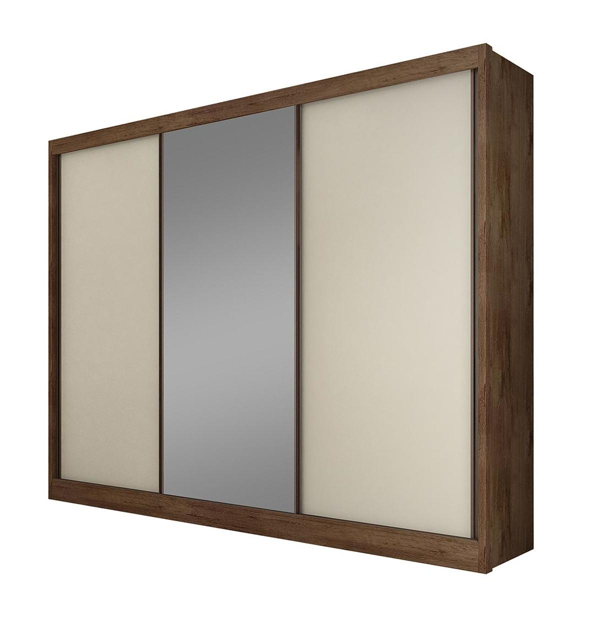 Guarda Roupa Casal com 1 Espelho 3 Portas e 6 Gavetas Diamond Novo Horizonte