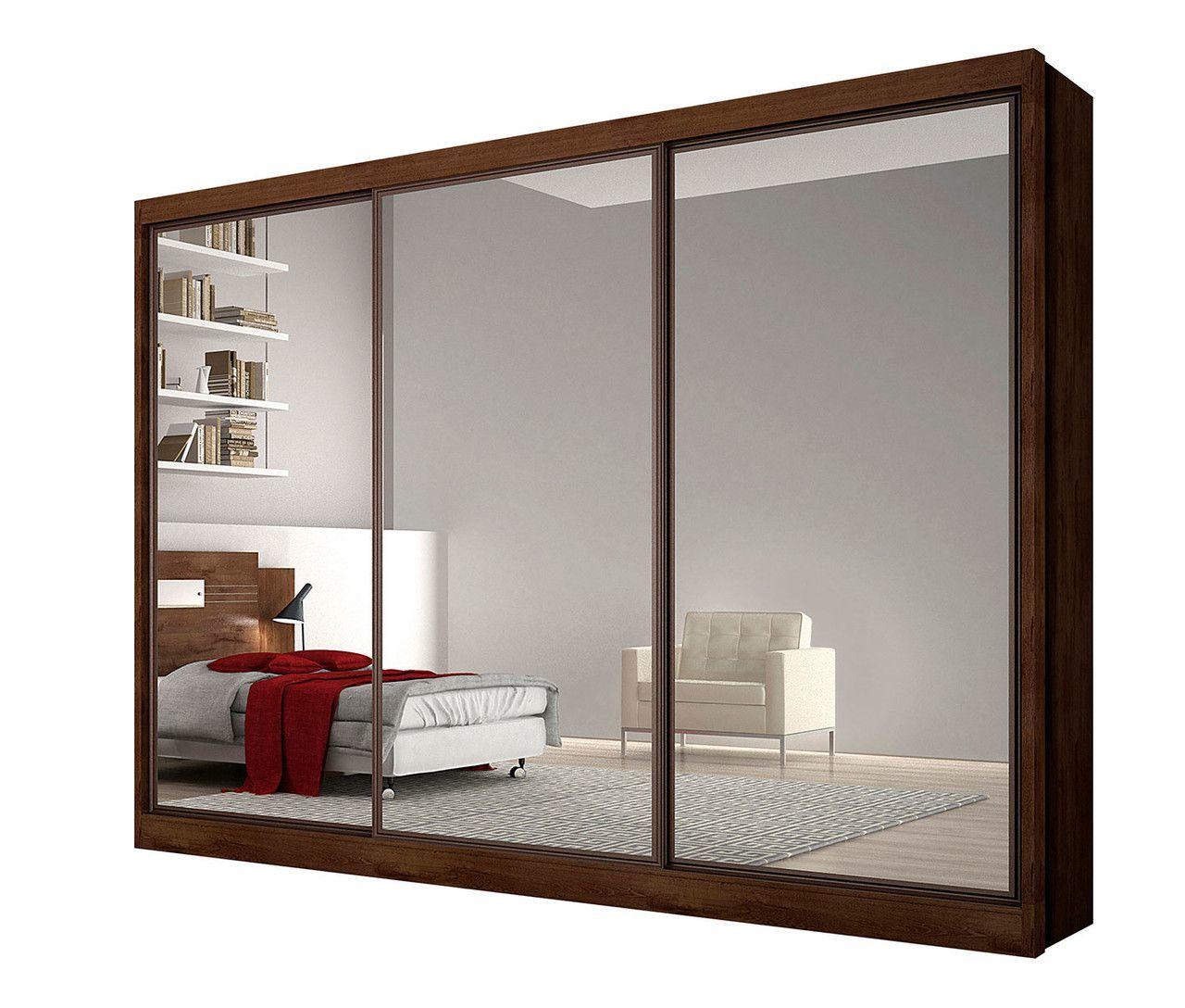 Guarda Roupa Casal com Espelho 3 Portas 6 Gavetas ALFEU Novo  Horizonte