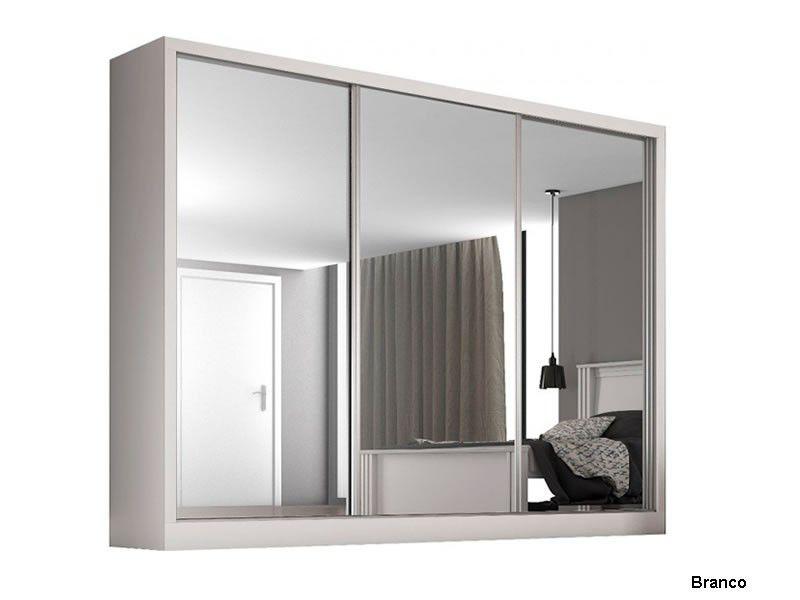 Guarda roupa com 3 portas espelhadas Napoli Móveis Europa