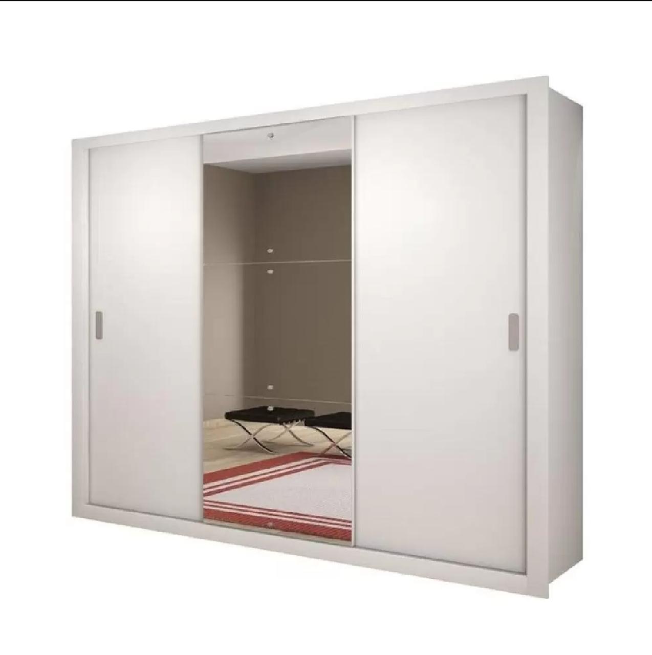 Guarda Roupa Veneza Luxo 3  Portas Móveis Rufato