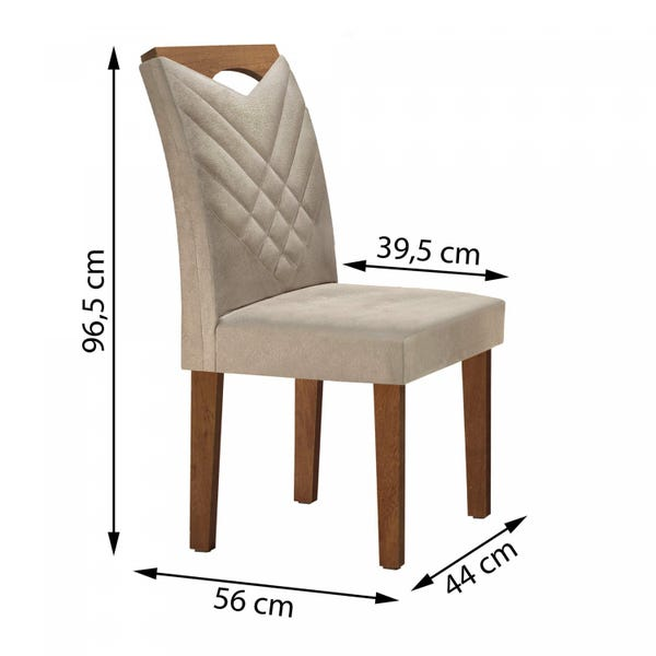 Mesa Oxford Tampo de 170 com 6 Cadeiras Oxford