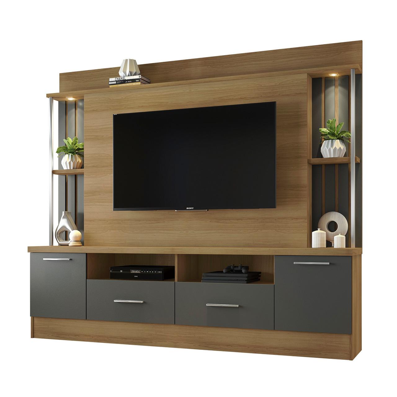 Painel Home para TV de até 65 Polegadas 2 Gavetas 2 Portas Afeto JCM Movelaria