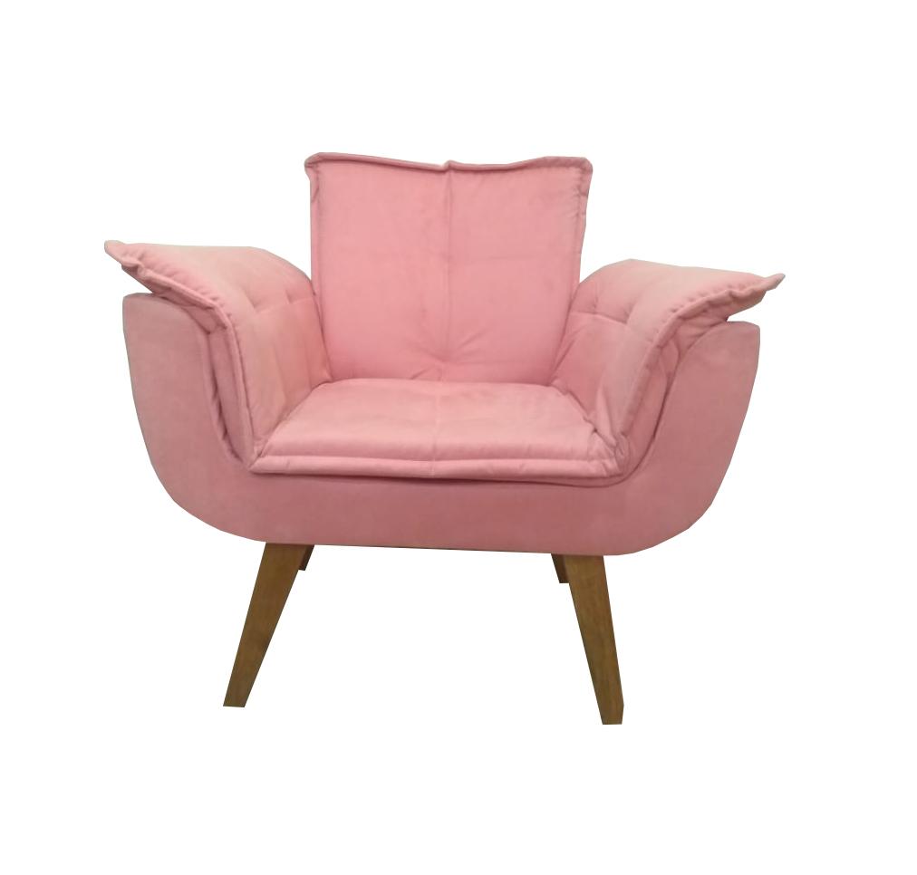 Poltrona Decorativa Opala Rosa