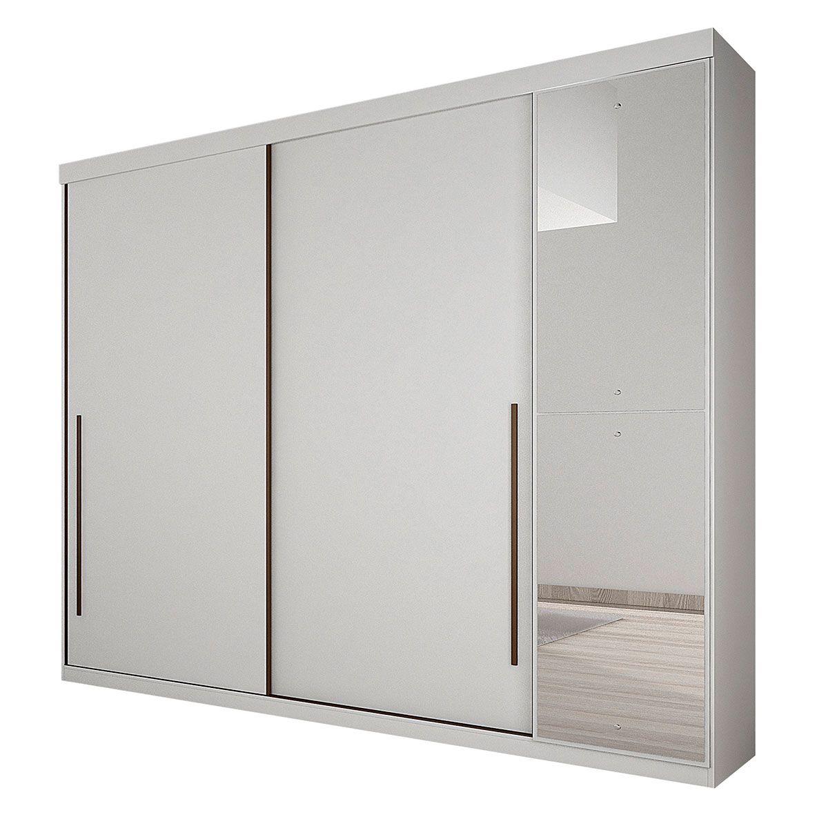 Guarda Roupa Casal com Espelho 3 Portas 4 Gavetas Scarpa Novo Horizonte