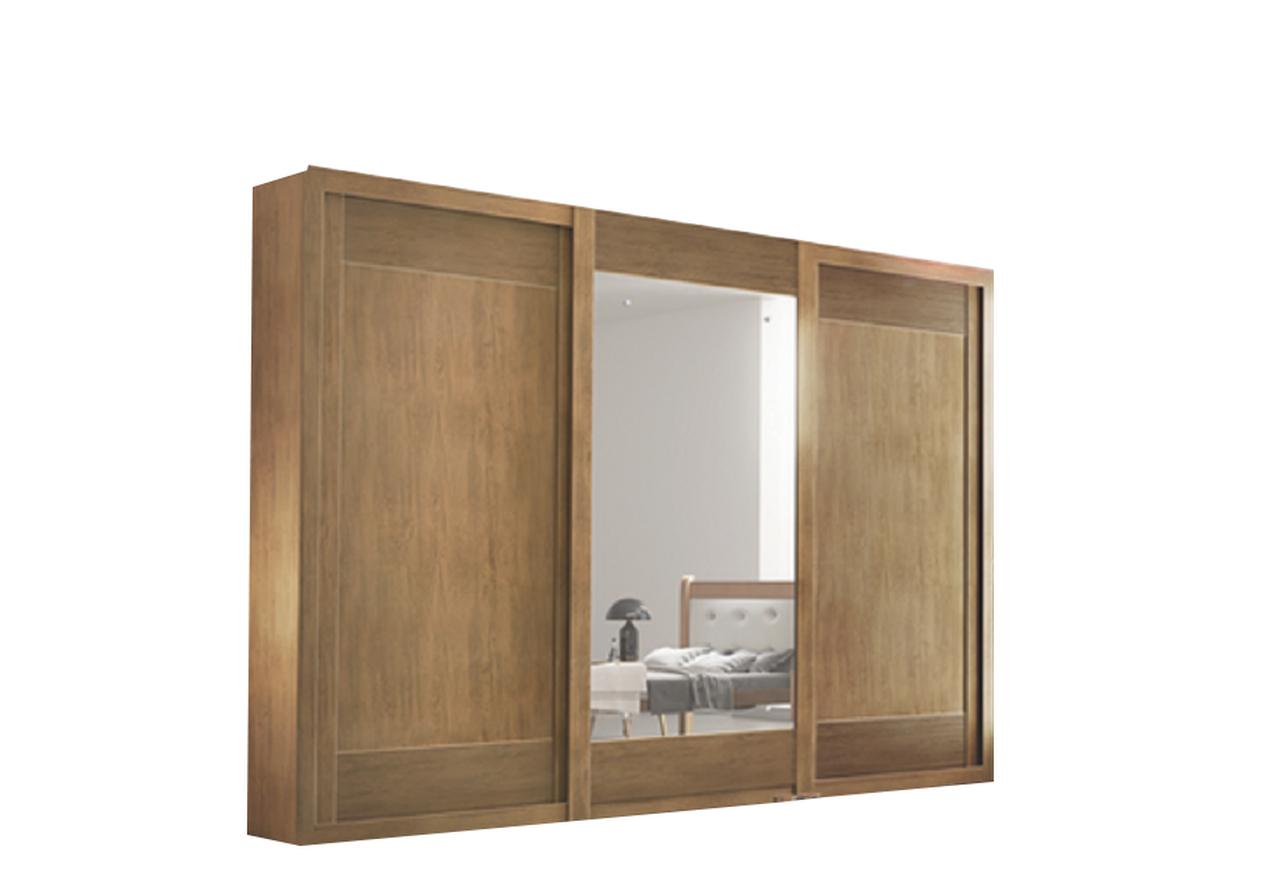 Roupeiro Supreme 3 Portas com Espelho Móveis Rufato