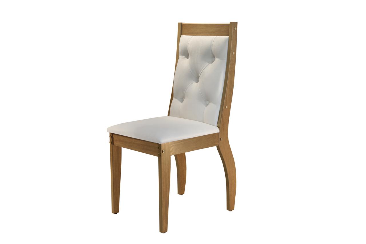 Sala de Jantar Agata com 6 Cadeiras Agata Creme  Móveis Rufato