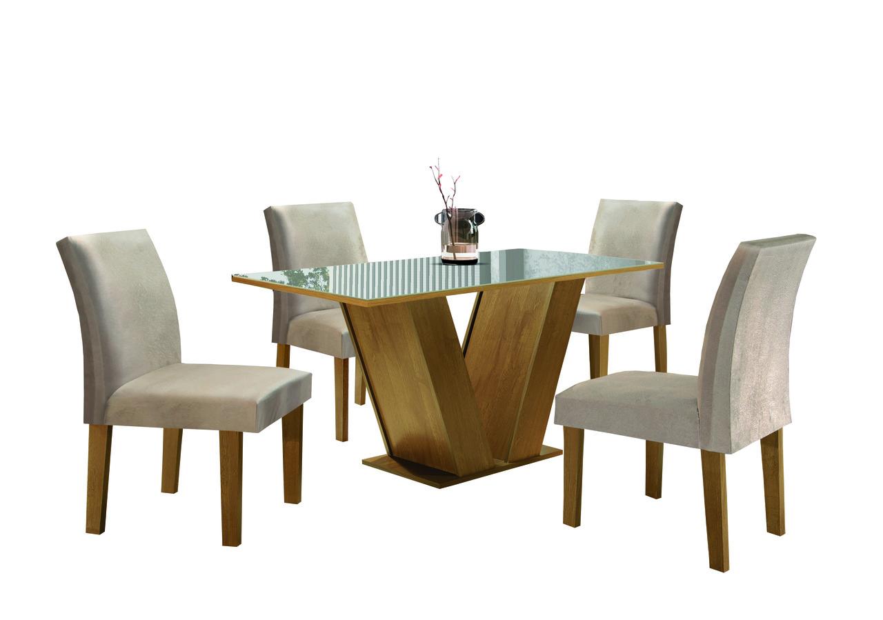 Sala de Jantar Classic com 4 Cadeiras Classic  Cel Móveis