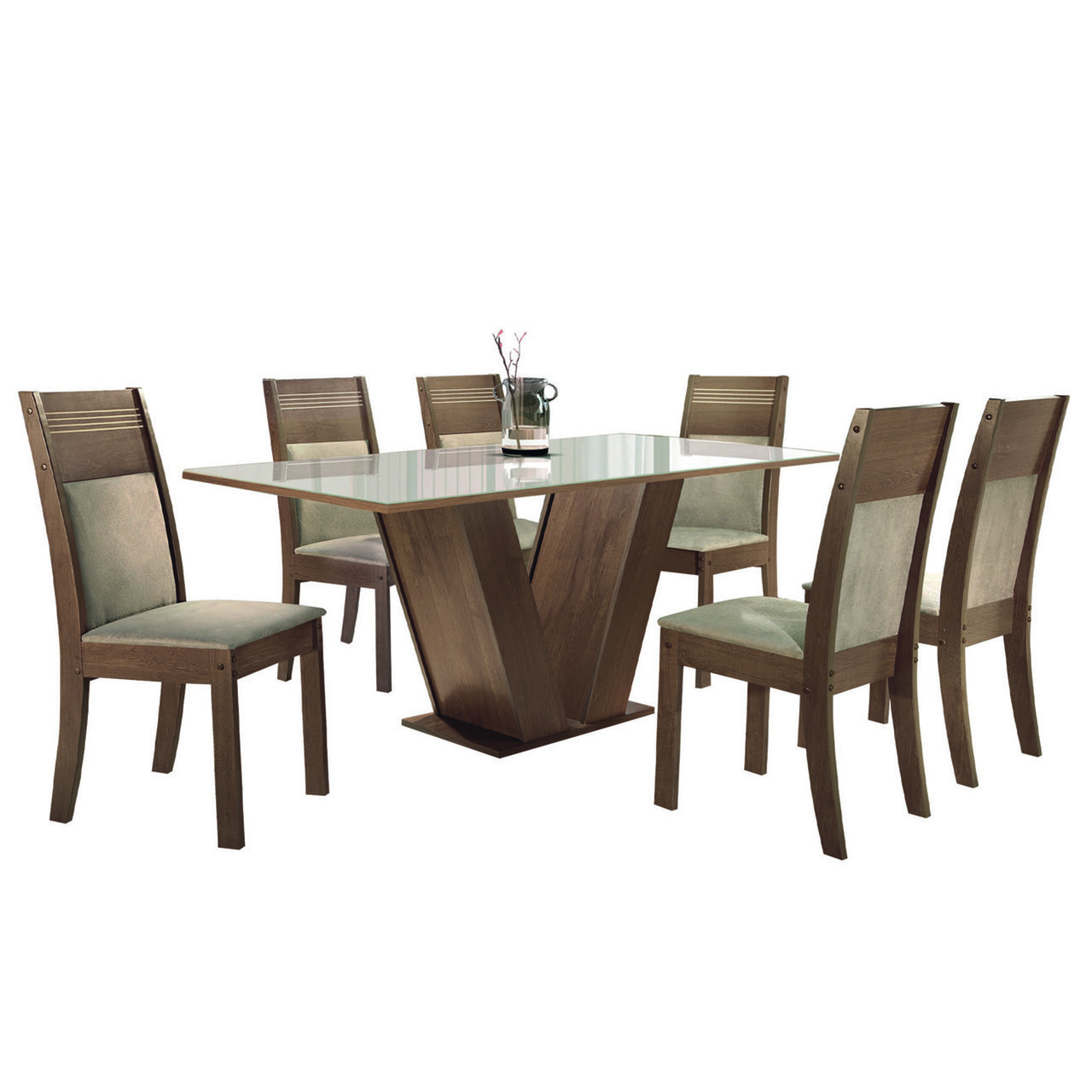Sala de Jantar Classic com 6 Cadeiras Ravena  Cel Móveis