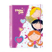 Caderno Fashion 10 Matérias 200 Folhas Dac - 2351LI