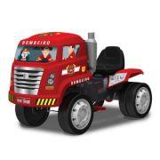 Caminhão Bandeirante Bombeiro com Pedal - Vermelho - 458