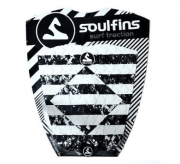 Deck Soul Fins Surfboard MDMA - Preto e Branco