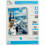 Photo Microporoso Paper C/260 Gr Tam. A4 C/ 10 Fls - Multila