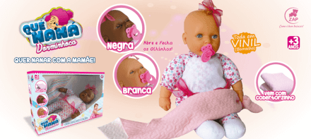 Boneca Quer Naná Branca Zap - 1007
