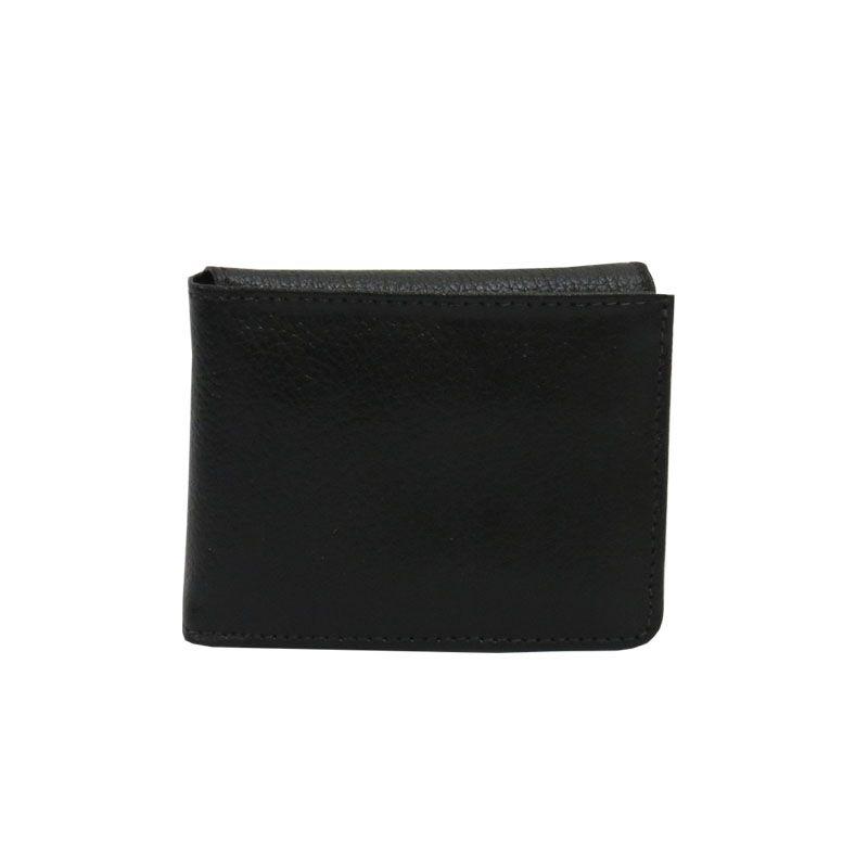 Carteira de couro masculina de bolso slim super discreta