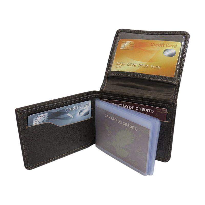 Carteira Masculina de Bolso Porta Cartão