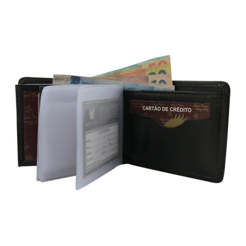 Carteira Masculina de Couro Mais Porta Cartões e Documentos