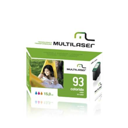 Cartucho Jato Compativel P/hp Mod. 000093 Color Multilaser -
