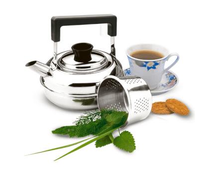 Chaleira Inox 1 L Coador de Chá Zanella - 5003-B