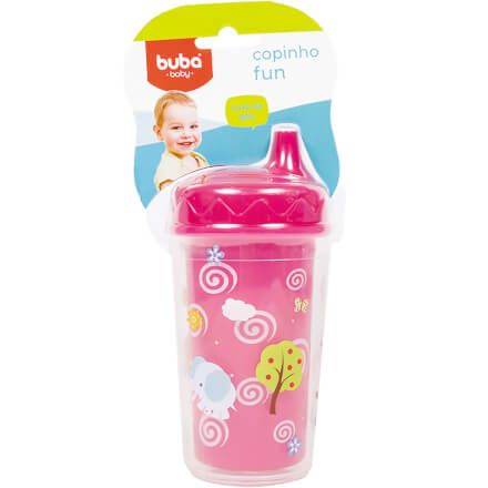 Copinho Fun Buba Baby Rosa 230ml