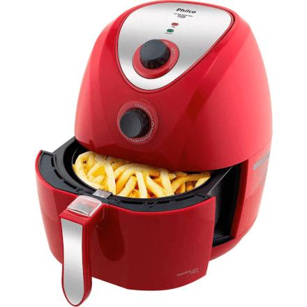 Fritadeira Philco Air Fry Saúde Inox PH 3,2 Litros 220v Verm